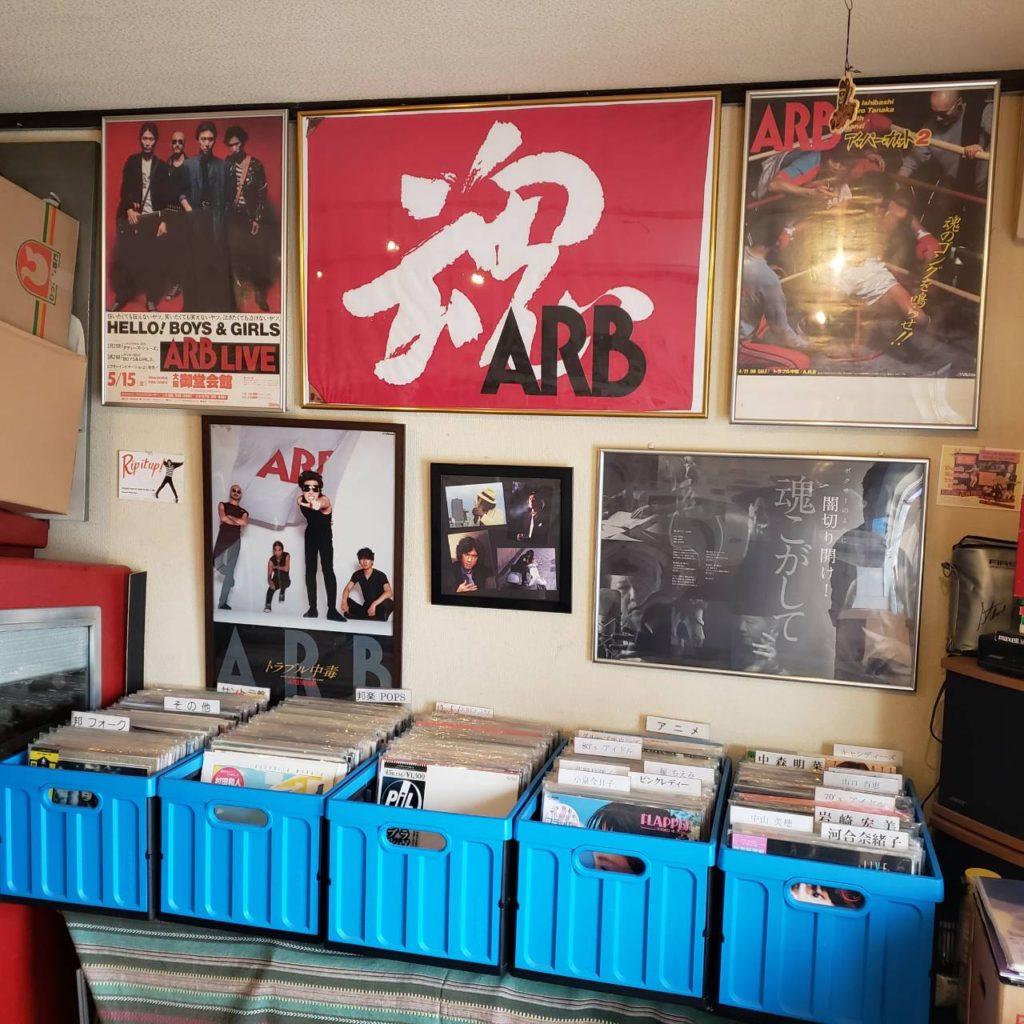 サイクルレコード店内の様子